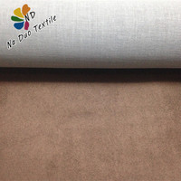 polyester suede fabric with TC backing for sofa furniture/suede fabric