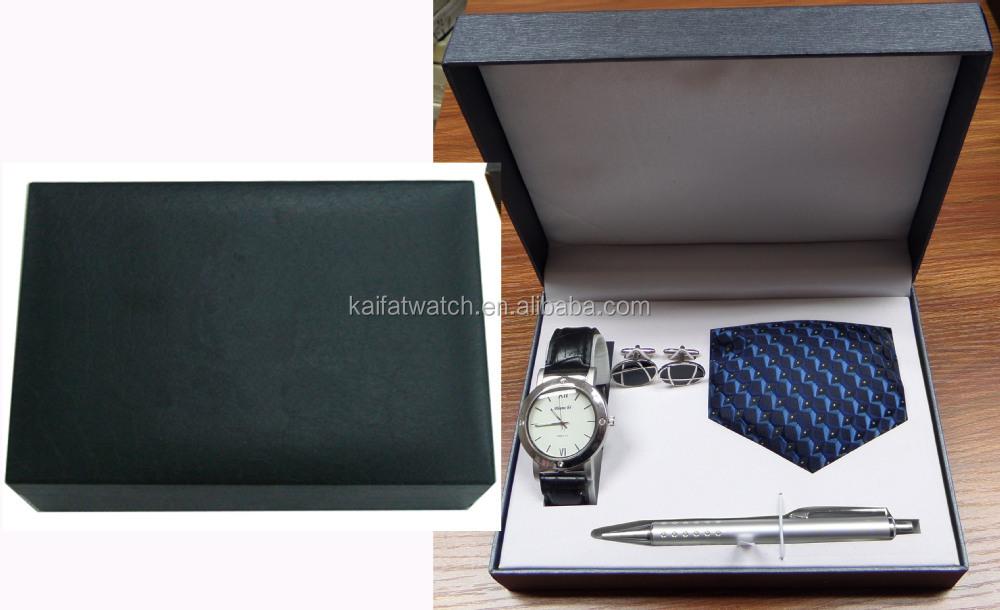 928236c28525 wholesale men luxury watch gift set with cufflinks
