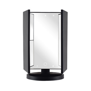 Latest trending Portable Rectangle Mirror Big Lighted Small 21 Leds Mirror