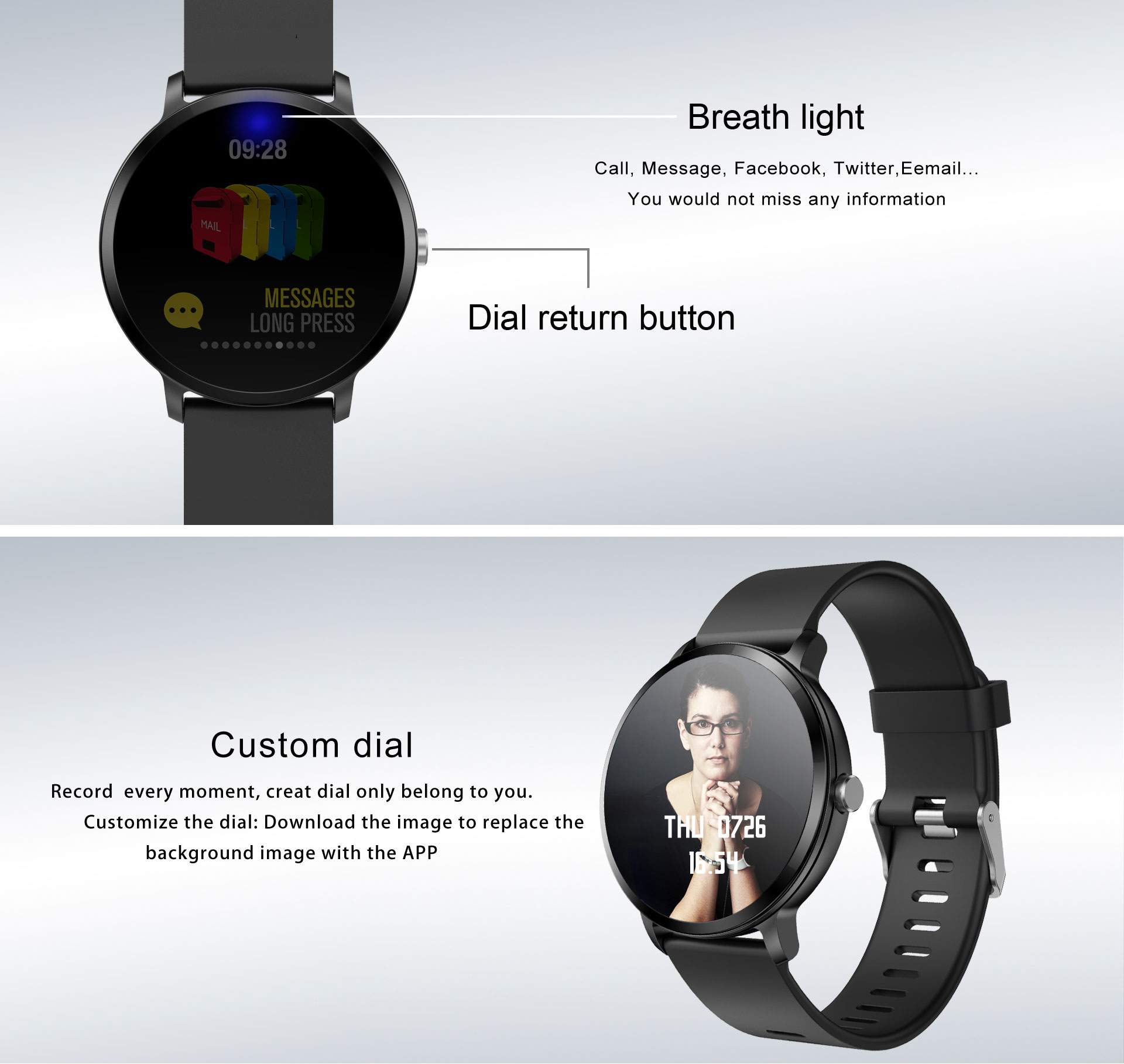 2019 hot sale fashion V11 smart watch with heart rate blood pressure function