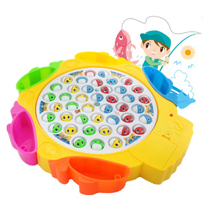 Electronic children fishing game toys pretend play set