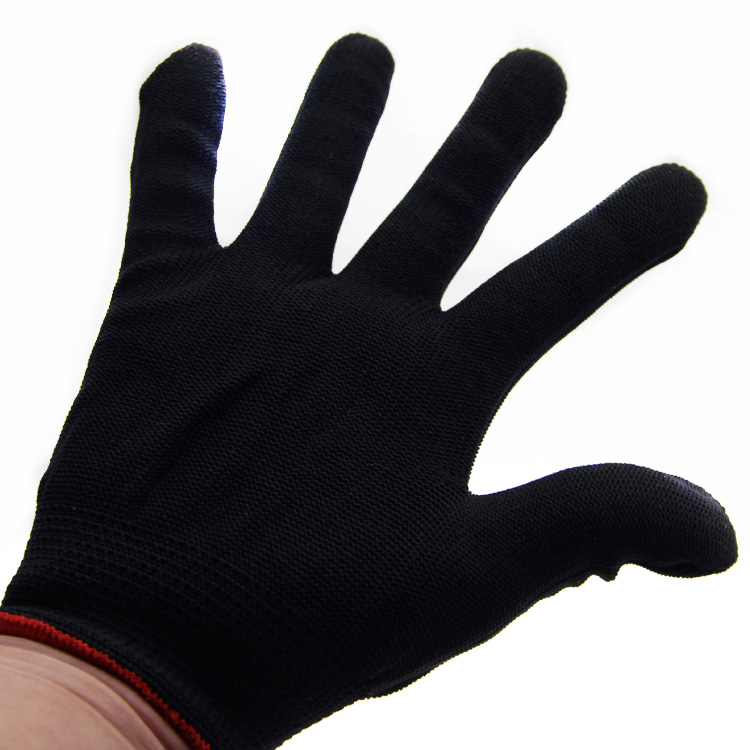 Hot selling nylon knitted three colors hand protect gloves