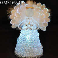 factory price fashion decorative glass angels statues wholesale with light