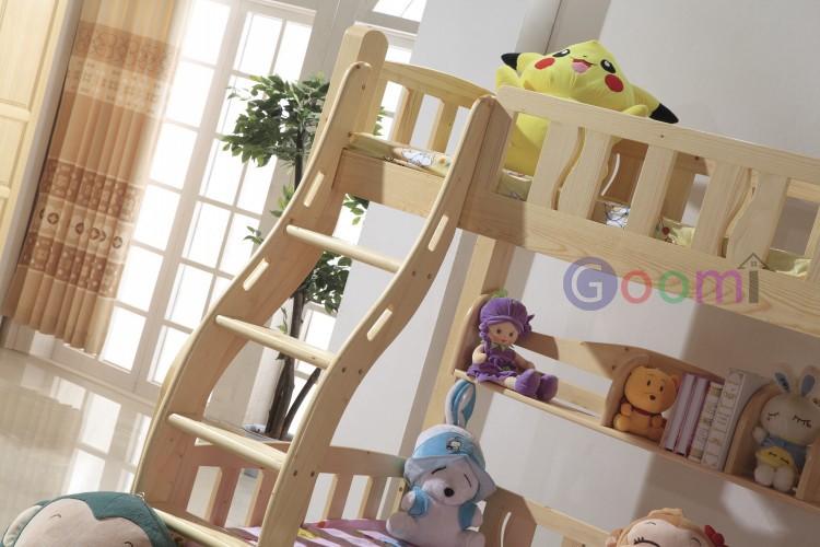 Goomi solid wood children bunk bed g812 kids cartoon bed - Solid wood youth bedroom furniture ...