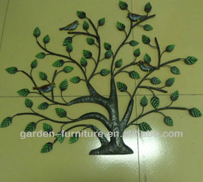 Home Decor Wrought Iron Art Metal Crafts Wall Tree - Buy Wall ...