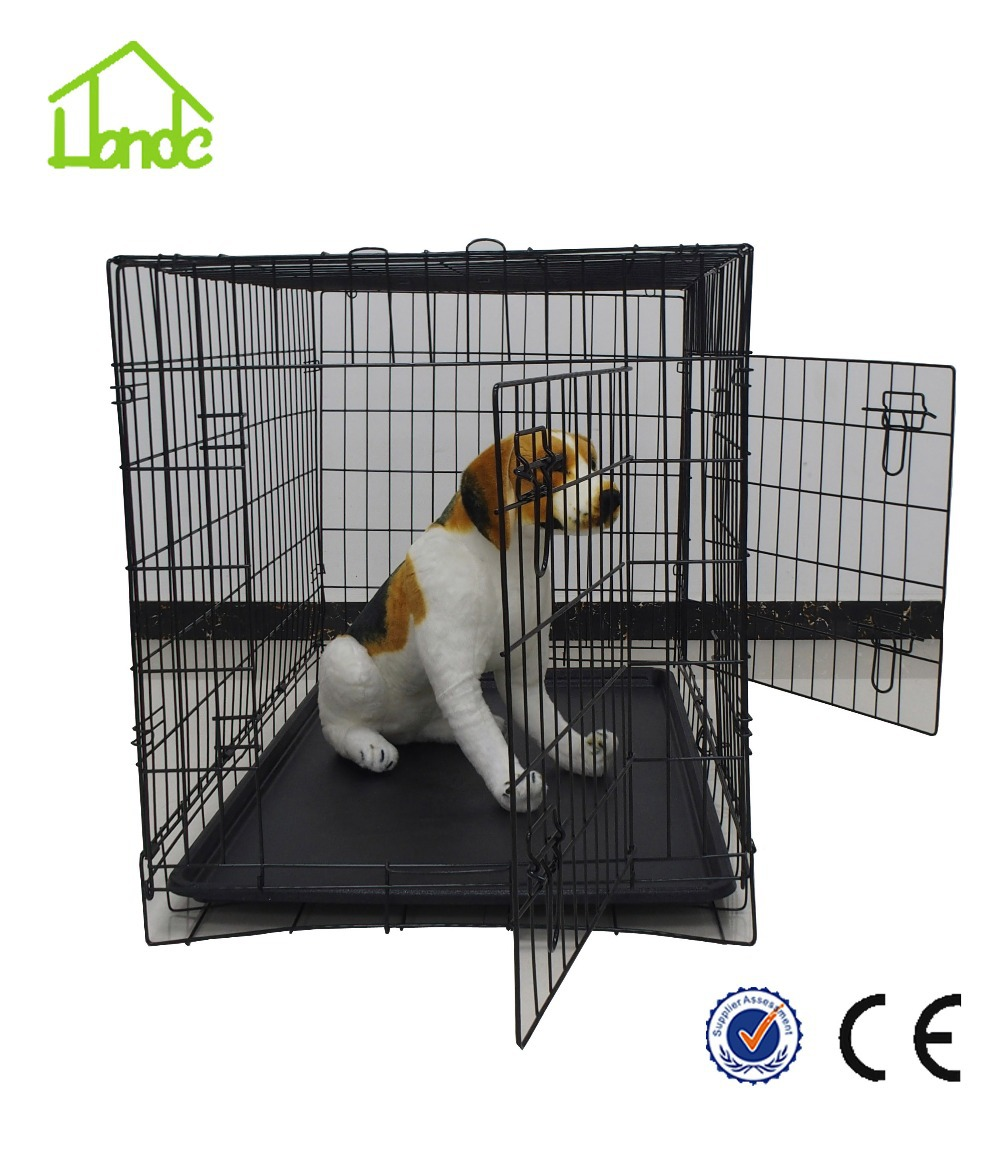 popular folding double door dog cage