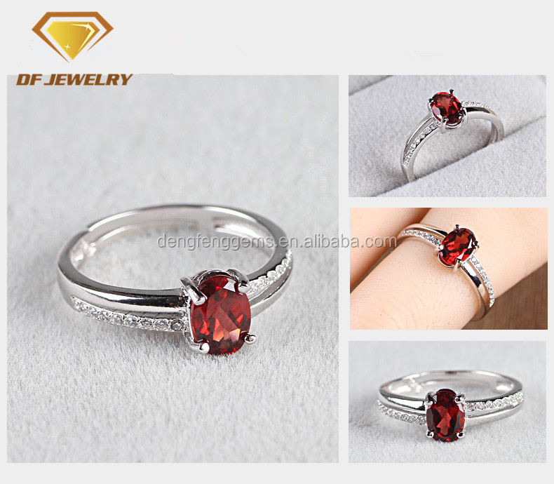 925 high quality fashion silver jewlry ruby ring