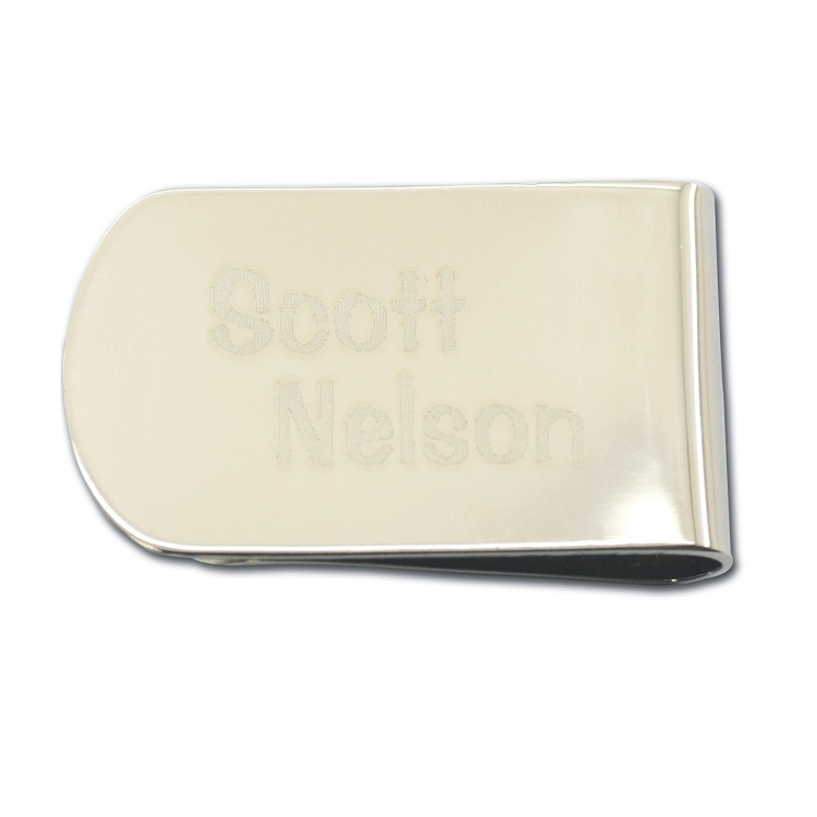 custom high quality cool folding metal golf cap magnetic leather money clip