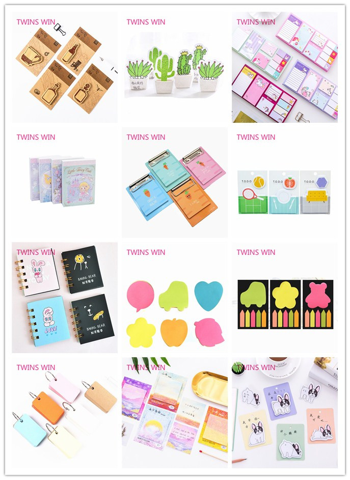 Canada New Coming gift stationery products Wholesale Promotion custom print creative colorful paper sticky memo pad 807