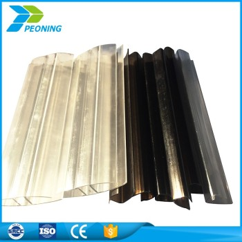 Gentil High Transparent Clear Corrugated Lexan Plastic Panels Roofing Materials  For Patio