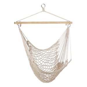 Single Hammock Hanging Chair Cotton Rope Hammock Chair