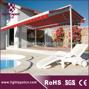 2017aluminum Retractable Double Canopy Patio Umbrella For Folding Up Sided Awning View Larger Image