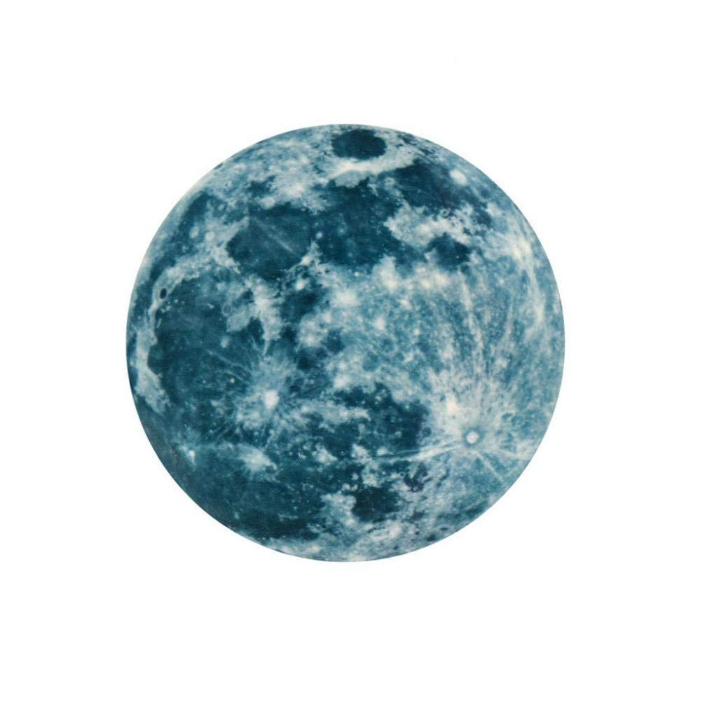 Leedford-Wall Stickers, 20cm 3D Large Moon Fluorescent Wall Sticker Removable Glow In The Dark Sticker (A)