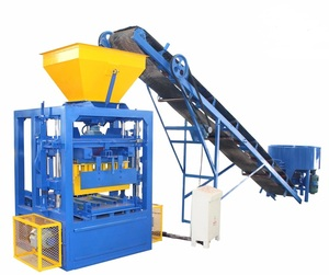 new innovative building products interlocking brick machine qtj4-40 block machine