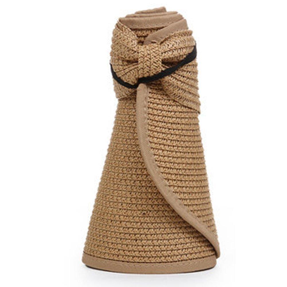 21d70bf76cf Get Quotations · Panda Superstore Beautiful Beach Hat Floppy Topless Summer  Straw Sun Hat Cap for Women Khaki