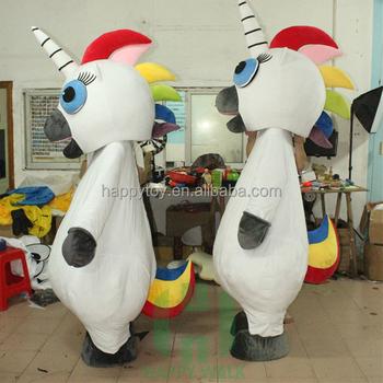 plush lovely custom inflatable unicorn costume halloween mascot cartoon character costumes lyjenny guangzhou for adults and