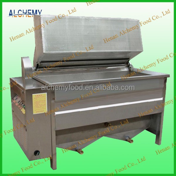 automatic dicharge stainless steel frying machine for food