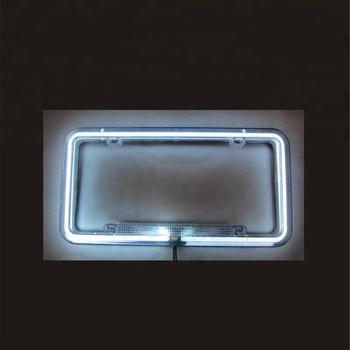 Número Car License Plate Quadro Neon Luz Branca