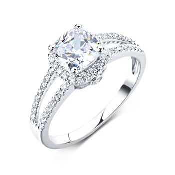 Fashion CZ Jewelry Good Quality AAAAA Cubic Zirconia S925 Silver Ring for Ladies