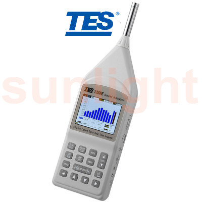 TES-1358E Class 1 Sound Analyzer, Real-time 1/1-Octave and 1/3-Octave Analysis