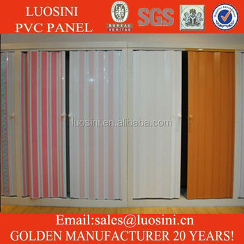 6mm Thicknes Pvc Folding Door For Interior Decoration Buy Plastic