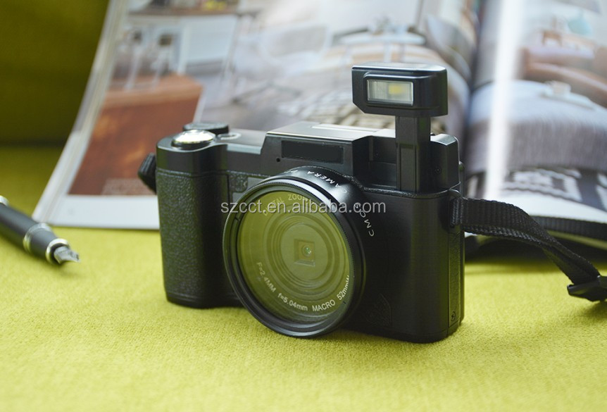 Dlsr Camera with 800mAh Battery Anti-shake 8MP SLR Flash Cameras Digital R2