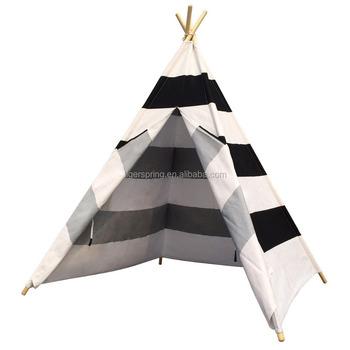 Indoor Kids Play Tent Wood Frame Kids Indoor Teepee Tent - Buy ...