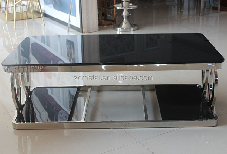 2016 factory price stainless steel tea table design