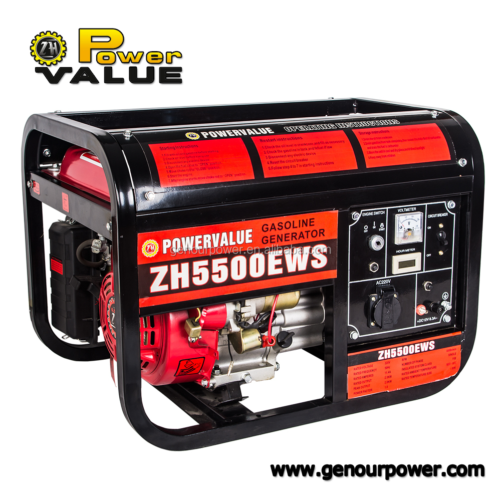 220V 13hp portable gasoline generator ohv 2kw with OEM service