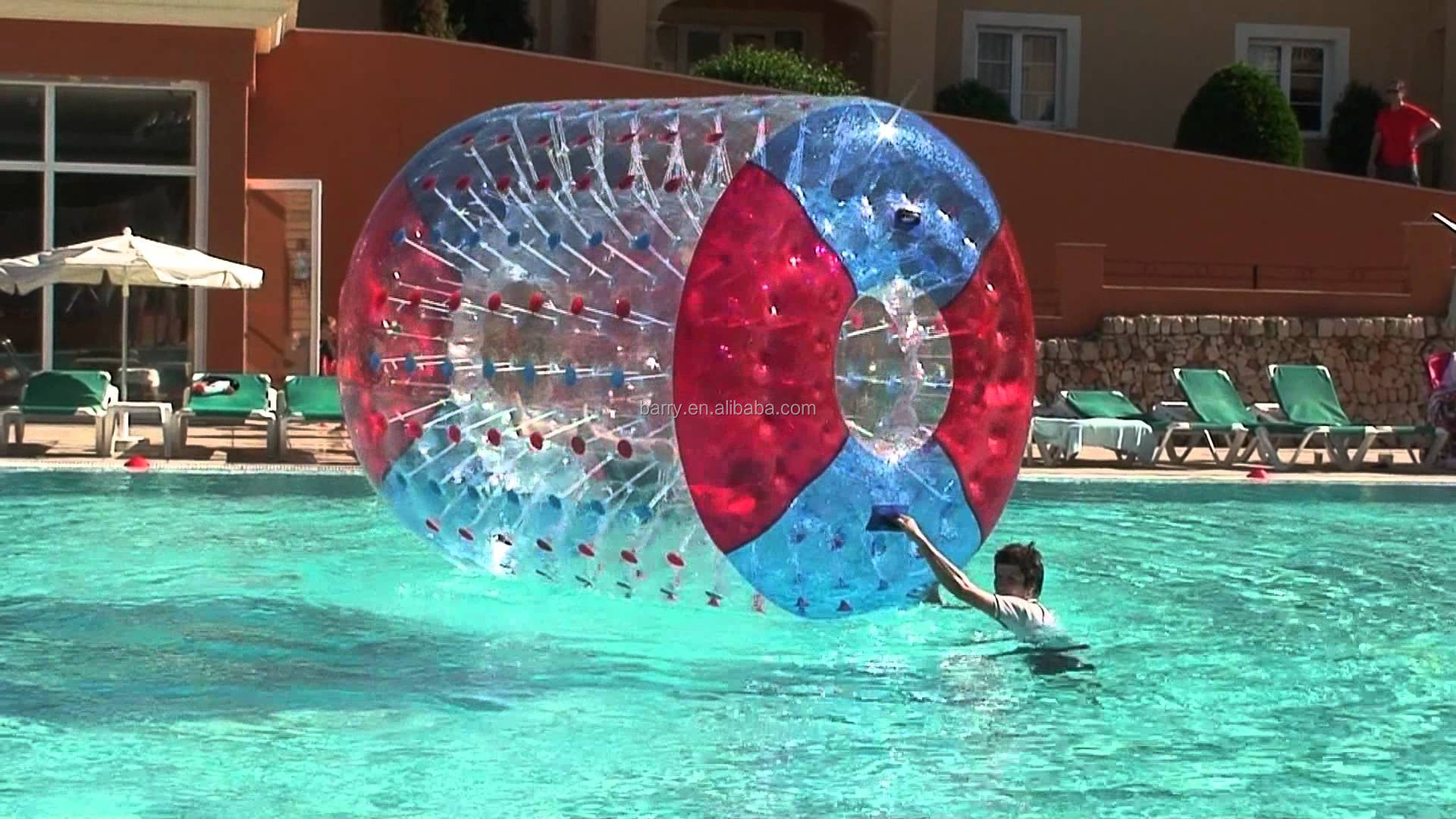 Barry preço de fábrica inflável roller ball aqua, aqua inflável bola rolando, rolo inflável da água para a venda