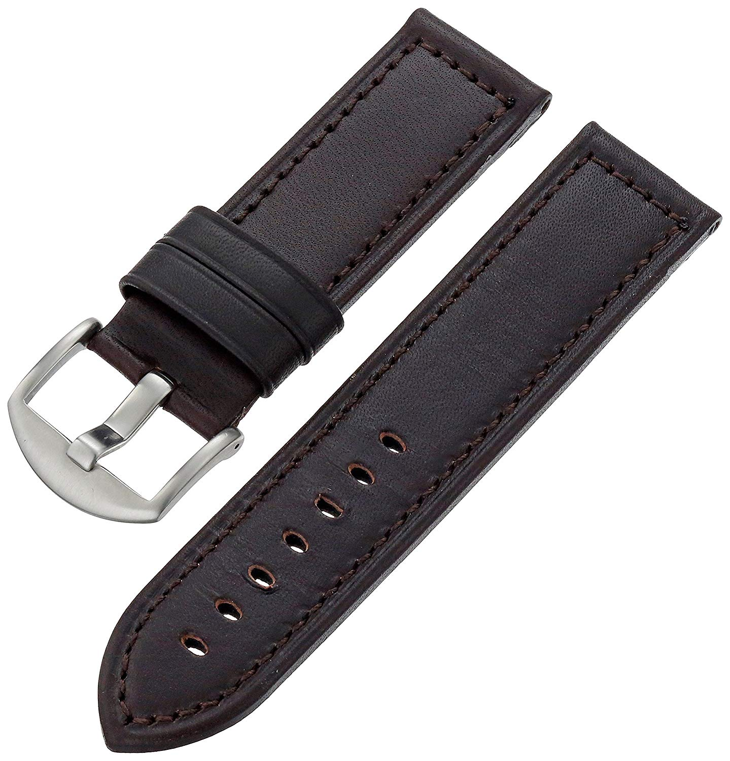 Hadley-Roma Men's MSM905RB-240 24-mm Brown Genuine Leather WatchStrap
