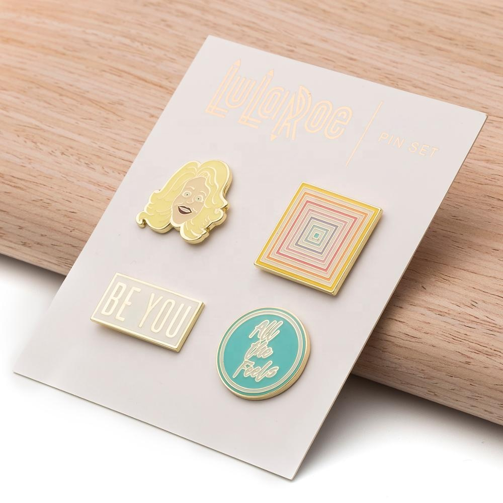 New products high quality custom animal cartoon cute glitter rainbow rose gold hard 3d enamel pin