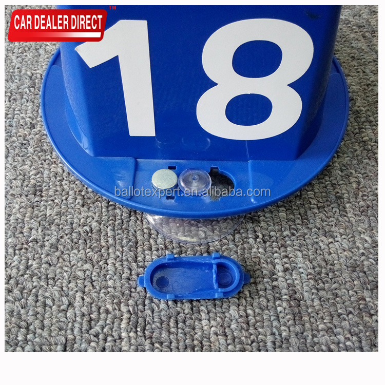 Automotive workshop 4 Sides Square Magnetic Car Top Hats Number Block
