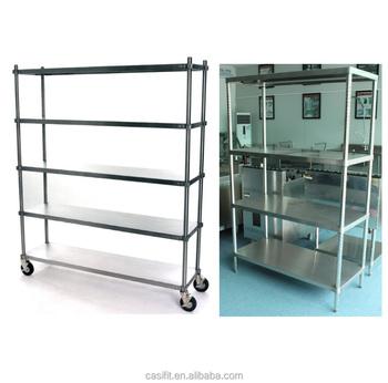 Ordinaire Kitchen 4 Layer Vertical Stainless Steel Metal Storage Shelf/Metal Rack  Kitchen Stand Kitchen Shelf
