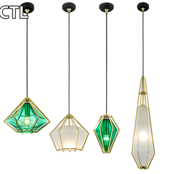 European retro Moore solder glass chandeliers laser cutting decorative glass pendant lights for bar
