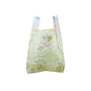 Customized Eco-Friendly Reusable Polyester Foldable New recycle reusable shopping bag