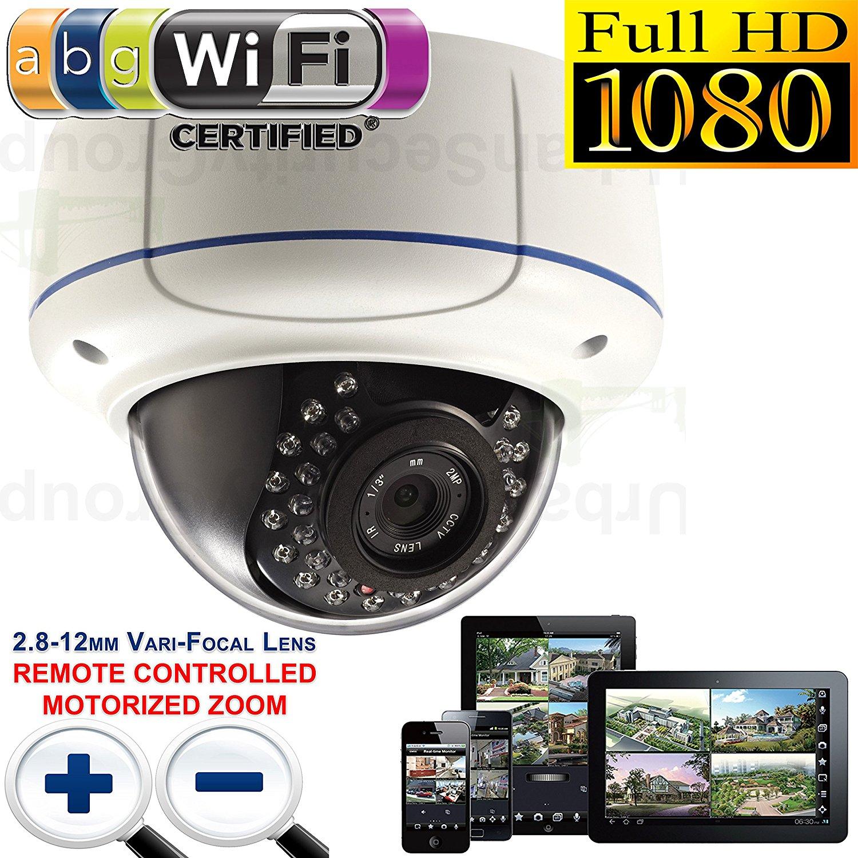 USG 1080P 2MP Wi-Fi HD-IP PoE Motorized Lens Auto-Zoom & Focus Dome Security Camera: 2.8-12mm Varifocal Lens + 802.11 b/g Wi-Fi Wireless + 30x IR LEDs 100 Feet Night Vision + IR-Cut + IP66 NEMA 4x Outdoor Rated + ONVIF