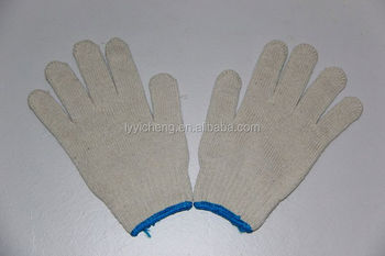 7/10 Gauge White Knitted Cotton Gloves Manufacturer In China ...