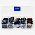 50 Pcs Guitar Picks Set Box Case Acoustic guitar Two Sides Earrings Pick Guitar Accessories For
