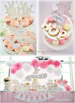 Shabby Chic Bunny Themed 1st Birthday Party Ideas Paper