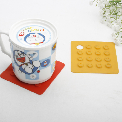 Rectangle shape silicone coaster