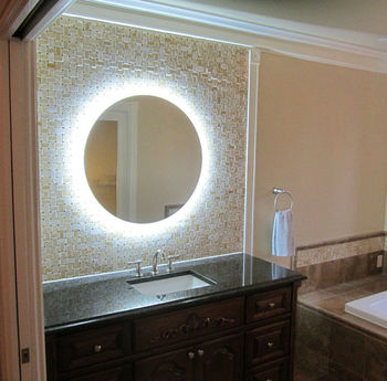 Backlit Mirror For Modern Bathroom Decorative Wall Hanging Mirror16 Years Supply Hotels