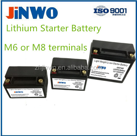 Motorcycle Lithium Ion Starter Battery LiFePO4 Starting Battery Motorycycle LiFePO4 Start Battery 12V 2.5Ah 5Ah 7,5Ah 10Ah