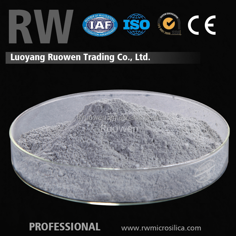High quality grey refractory cement silica fume cost price
