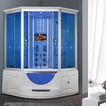 Hs-sr033 Price Of Prefab Steam Room 2 Person Jetted Tub Shower Combo ...