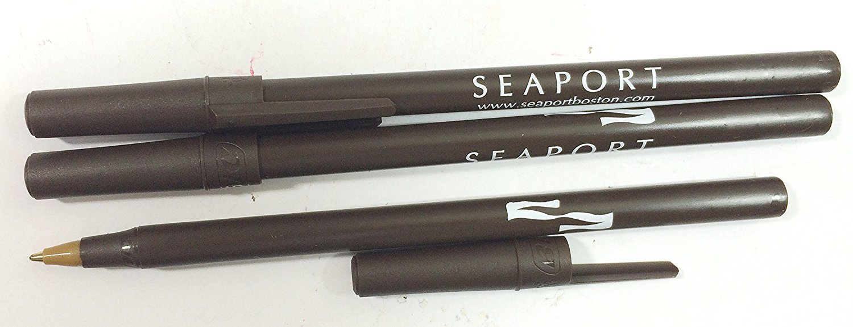 50 BiC Stick Promotional Pens - Smoke - Black Ink - Med - See Description