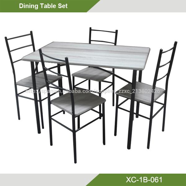 oferta Barato Conjunto de Mesa de Comedor con 4 sillas/Mesa comedor ...
