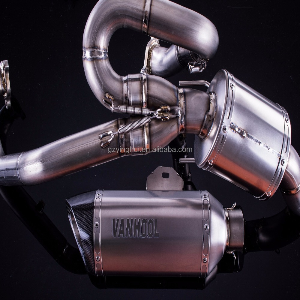 KTM 200 DUKE 2011-2015 225mm STAINLESS RACE SILENCER DE-CAT EXHAUST