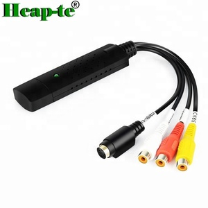 USB 2.0 Video Audio Capture Card Adapter VHS DC60 DVD Converter Composite for CCTV Camera,Laptop
