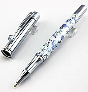 Luxury Princesse Grace Unique White silver clip Roller Ball Pen /Ballpoint Pen with Gem School supplies Writing Brand Pen